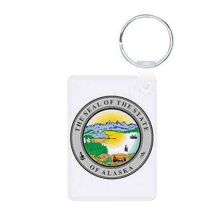Alaska State Seal Aluminum Photo Keychain