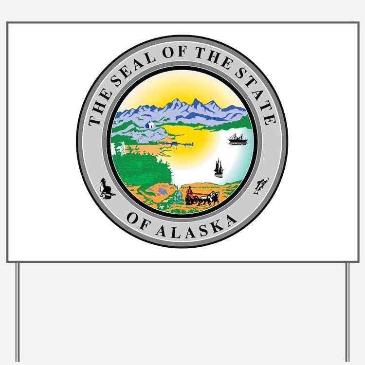 Alaska State Seal Yard Sign