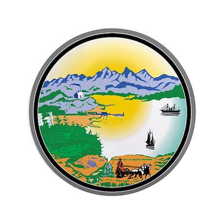 "Alaska State Seal 3.5"" Button (100 pack)"