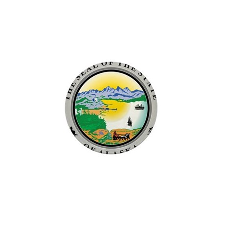 Alaska State Seal Mini Button (10 pack)