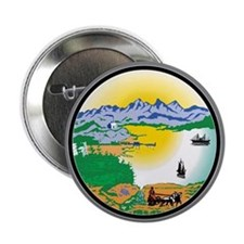 "Alaska State Seal 2.25"" Button (10 pack)"