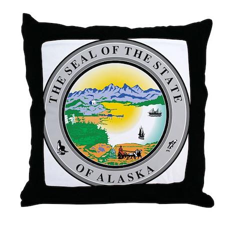 Alaska State Seal Throw Pillow