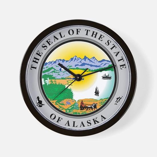 Alaska State Seal Wall Clock