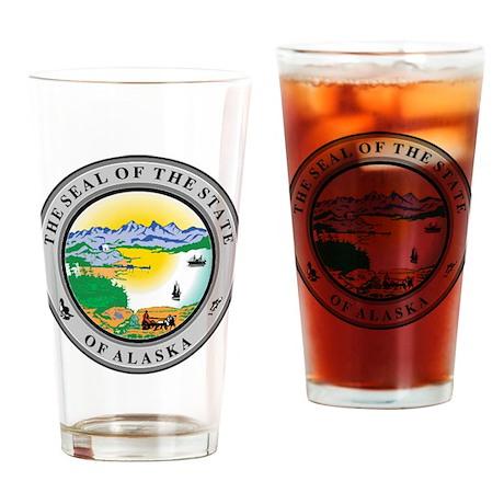Alaska State Seal Drinking Glass