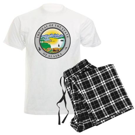 Alaska State Seal Men's Light Pajamas