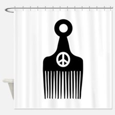 Afro Hair Peace Shower Curtain