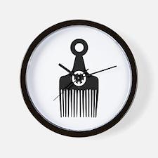Afro Hair Peace Wall Clock