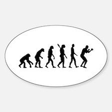 Boxing evolution Sticker (Oval)