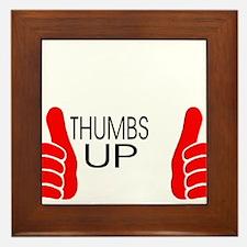 thumbs up Framed Tile