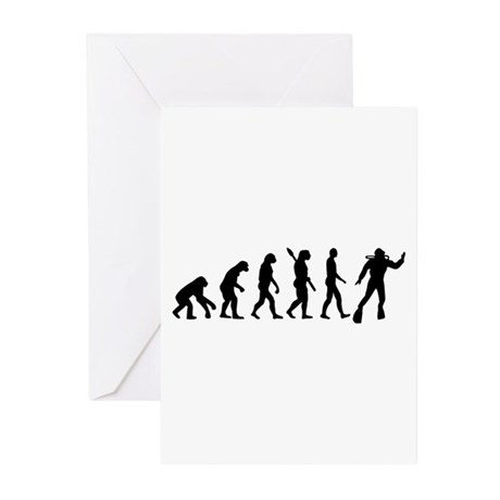 Scuba diving evolution Greeting Cards (Pk of 10)