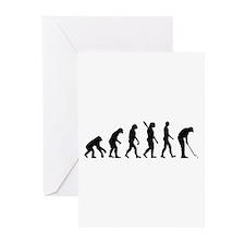 Golf evolution Greeting Cards (Pk of 10)