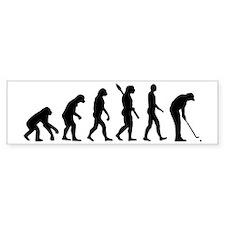 Golf evolution Bumper Stickers