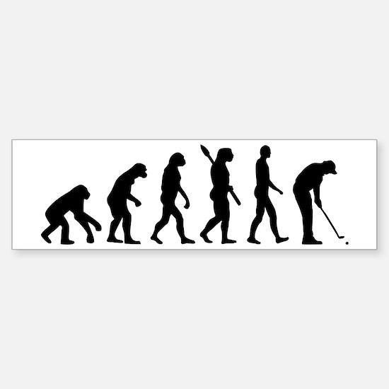 Golf evolution Sticker (Bumper)