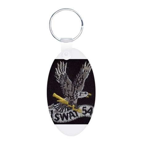 LAPD_SWAT Aluminum Oval Keychain