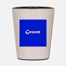 Blue Groom Wedding Shot Glass