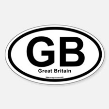 GB - Great Britain Sticker (Oval)