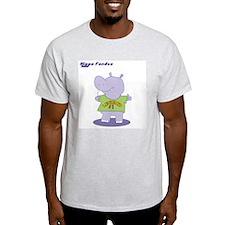 Hippo Fondue Ash Grey T-Shirt