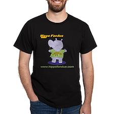 Hippo Fondue Black T-Shirt