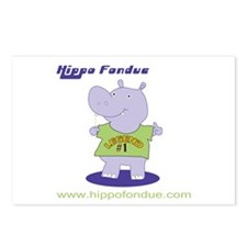 Hippo Fondue Postcards (Package of 8)