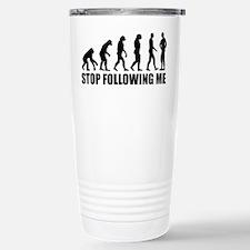 Stop following me evolution Travel Mug