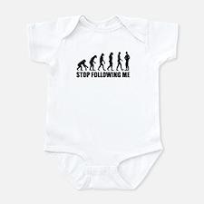 Stop following me evolution Infant Bodysuit