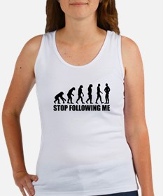 Stop following me evolution Women's Tank Top