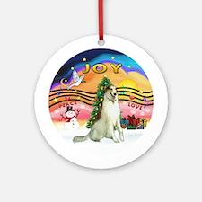 XmasMusic2-Borzoi Ornament (Round)