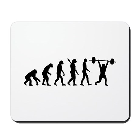 Weightlifting evolution Mousepad