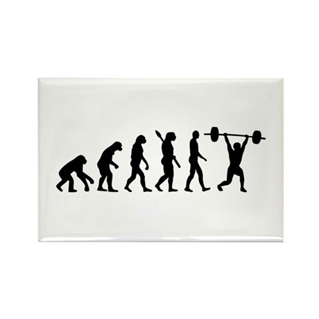 Weightlifting evolution Rectangle Magnet (100 pack