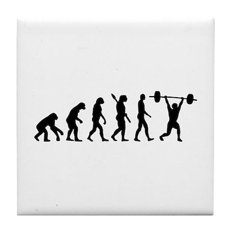 Weightlifting evolution Tile Coaster