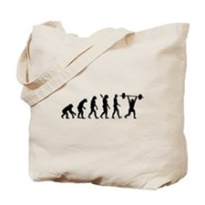 Weightlifting evolution Tote Bag