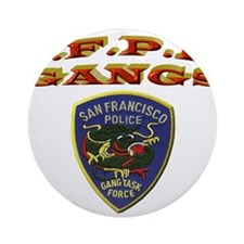 S.F.P.D. Gang Task Force Ornament (Round)