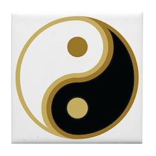 Yin Yang, Gold Tile Coaster