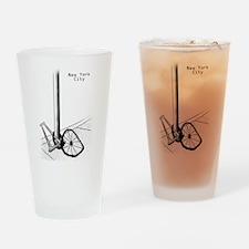 NYC Stolen Bike Drinking Glass