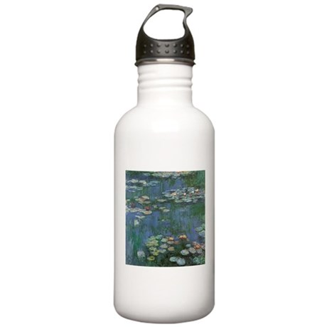 Claude Monet Water Lilies Stainless Water Bottle 1