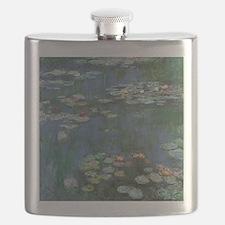 Claude Monet Water Lilies Flask