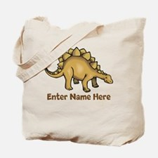 Personalized Stegosaurus Tote Bag