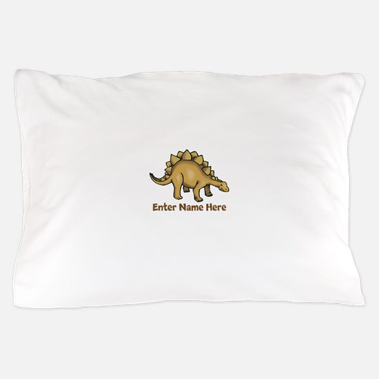 Personalized Stegosaurus Pillow Case