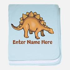Personalized Stegosaurus baby blanket