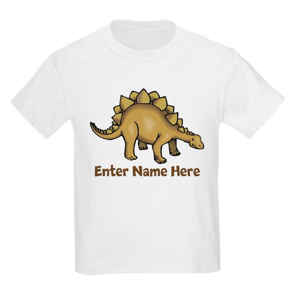 CafePress Personalized Stegosaurus Kids Light T-Shirt