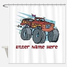 Personalized Monster Truck Shower Curtain