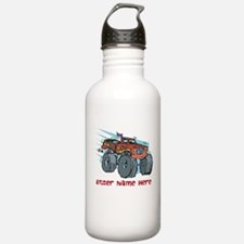 Personalized Monster Truck Water Bottle