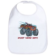 Personalized Monster Truck Bib