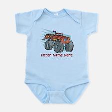 Personalized Monster Truck Infant Bodysuit