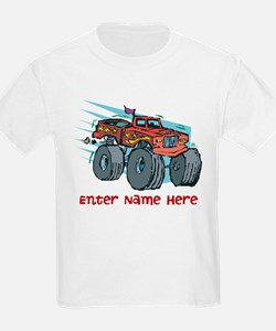 Personalized Monster Truck T-Shirt