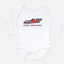 Personalized Racecar Long Sleeve Infant Bodysuit