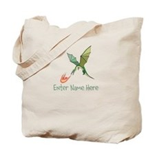 Personalized Dragon Tote Bag