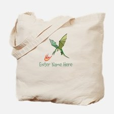 Personalized Dragon Tote Bag