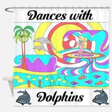 Dolphin Dancer Shower Curtain