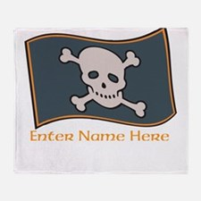 Personalized Pirate Flag Throw Blanket